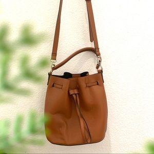Preloved F21 Faux Cognac Leather Crossbody Bag